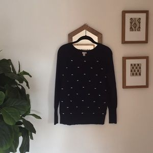 Navy blue halogen cashmere sweater